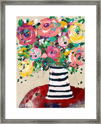 Framed Print featuring the mixed media Delightful Bouquet 5- Art By Linda Woods by Linda Woods