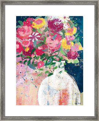 Framed Print featuring the mixed media Delightful Bouquet- Art By Linda Woods by Linda Woods