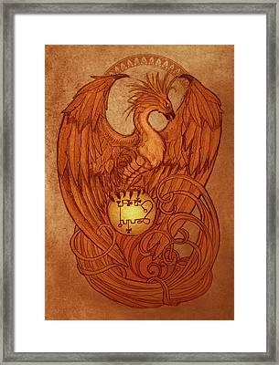 Demons Of Goetia- Phenex Framed Print