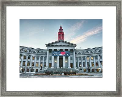 Denver Loves Immigrants Framed Print