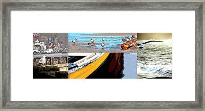 Framed Print featuring the photograph Depoe Bay Collage by Jerry Sodorff