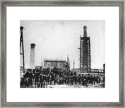 Deptford Pumping Station Framed Print by Hulton Archive