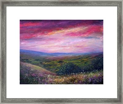 Derbyshire Skies Framed Print by Ann Marie Bone