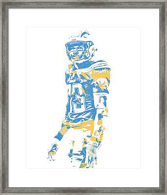 Derwin James Los Angeles Chargers Pixel Art 2 Framed Print 32bde3525