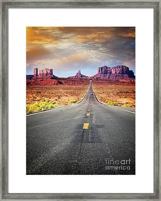 Desert Drive Framed Print
