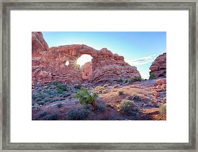 Desert Sunset Arches National Park Framed Print