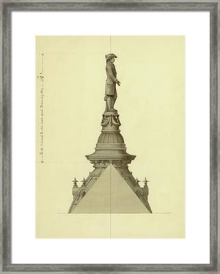 Design For City Hall Tower Framed Print