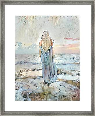 Desolate Or Contemplative Framed Print