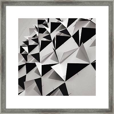 Detail Shot Of Wall With Black Folded Framed Print by David Crunelle / Eyeem