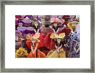 Framed Print featuring the photograph Dia De Los Muertos Candy Catrinas by Tatiana Travelways