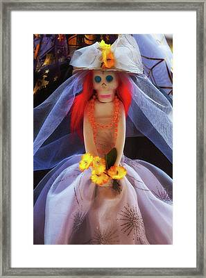Framed Print featuring the photograph Dia De Los Muertos Spooky Candy Catrina by Tatiana Travelways