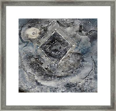 Framed Print featuring the painting Diamond Apparition  by 'REA' Gallery