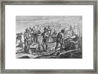 Diamond Mining Framed Print by Kean Collection