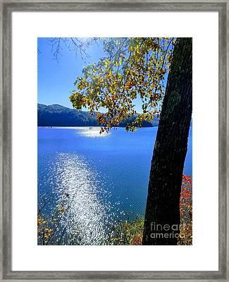 Framed Print featuring the photograph Diamond Ripples On The Water by Rachel Hannah