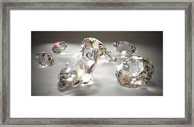 Diamonds Framed Print by Mevans