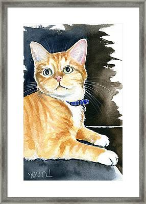 Diego Ginger Tabby Cat Painting Framed Print