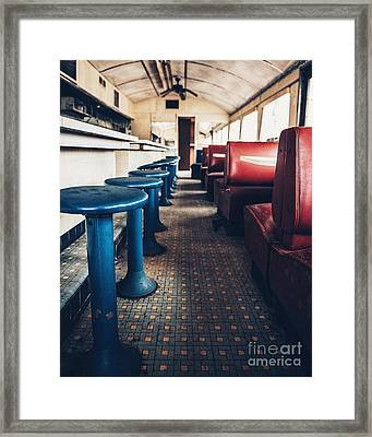 Framed Print featuring the photograph Diner Version 1 by Terry Rowe
