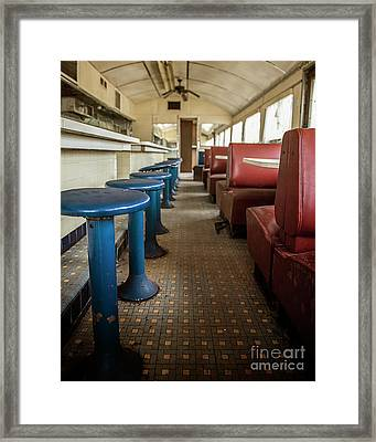 Framed Print featuring the photograph Diner Version 2 by Terry Rowe