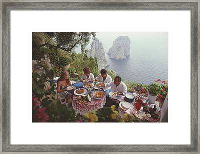 Dining Al Fresco On Capri Framed Print