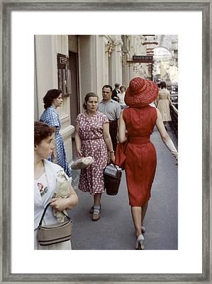 Dior In Moscow Framed Print by Howard Sochurek