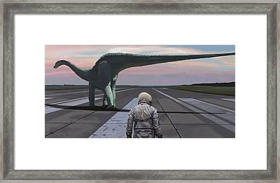 Diplodocus Framed Print