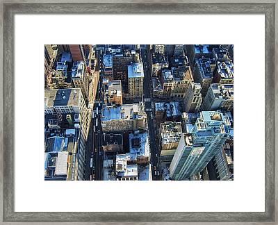 Directly Above Shot Of City Framed Print by Gavin Pugh / Eyeem