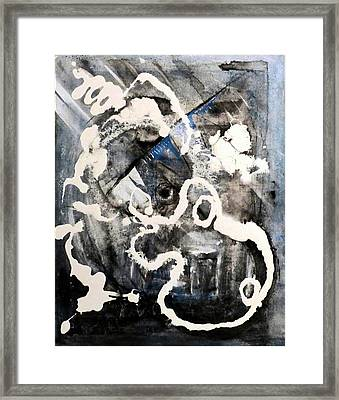 Framed Print featuring the painting Dismantling by 'REA' Gallery