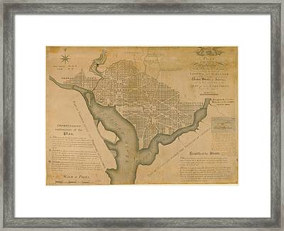 District Of Columbia 1792 Washington Framed Print