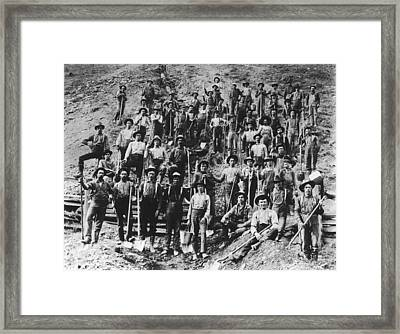 Ditch Diggers Framed Print by Fotosearch