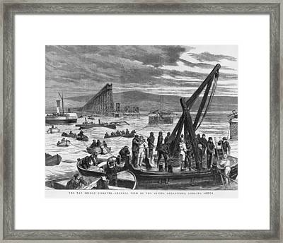 Diving Operations Framed Print by Hulton Archive