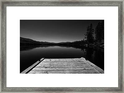 Dock At Dusk Framed Print