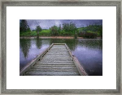 Framed Print featuring the photograph Dock In Painting by Bill Posner