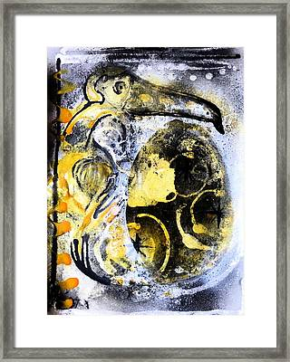 Framed Print featuring the painting Dodo by 'REA' Gallery