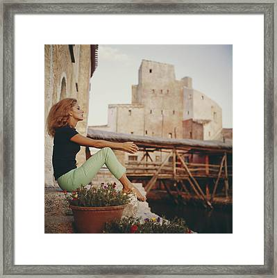 Dolores Guinness Framed Print by Slim Aarons