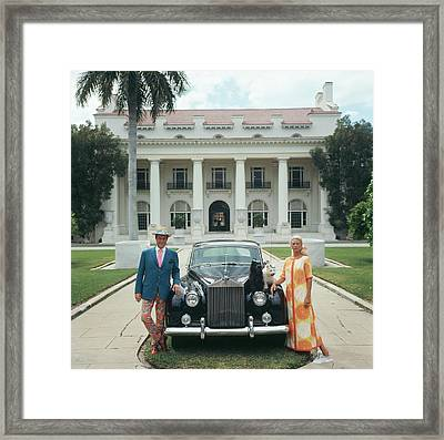 Donald Leas Framed Print by Slim Aarons