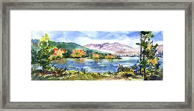 Donner Lake Fisherman Framed Print