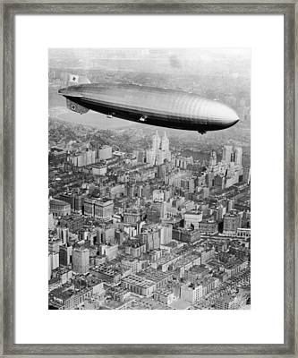 Doomed Airship Framed Print by Hulton Archive