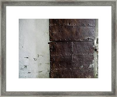 Framed Print featuring the photograph Door At Kristiansten Fortress In Trondheim, Norway by Whitney Leigh Carlson