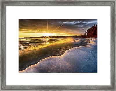 Door County Sunset Framed Print