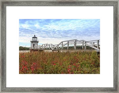 Doubling Point Lighthouse In Maine Framed Print
