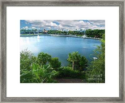 Downtown At The Gardens Mall Palm Beach Florida C2 Framed Print