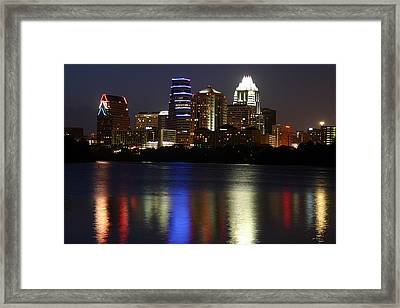 Downtown Austin Skyline Framed Print by Xjben
