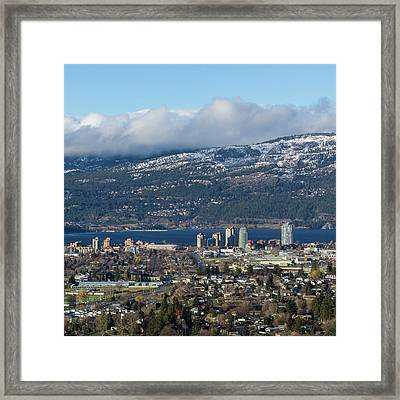 Downtown Kelowna From Dilworth Framed Print