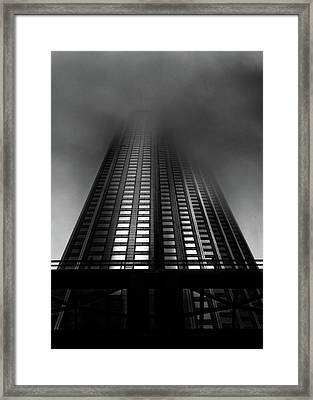 Framed Print featuring the photograph Downtown Toronto Fogfest No 11 by Brian Carson