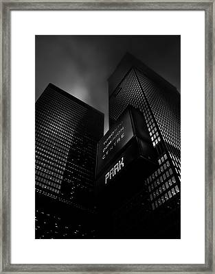 Framed Print featuring the photograph Downtown Toronto Fogfest No 16 by Brian Carson