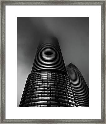 Framed Print featuring the photograph Downtown Toronto Fogfest No 21 by Brian Carson