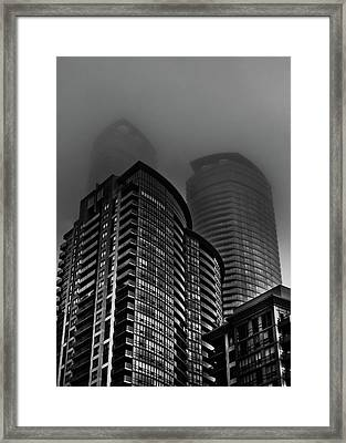 Framed Print featuring the photograph Downtown Toronto Fogfest No 22 by Brian Carson