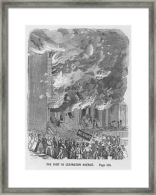 Draft Riots Framed Print by Kean Collection