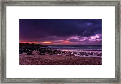 Dramatic Sky At Porthmeor Framed Print