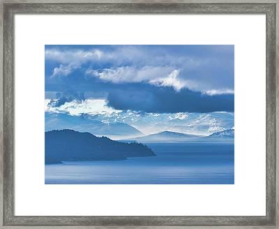 Dreamy Kind Of Blue Framed Print